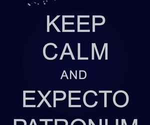 harry potter, keep calm, and expecto patronum image