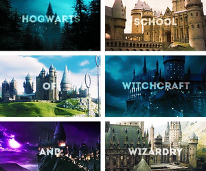 hogwarts and wizard image