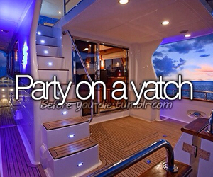 party, yacht, and ocean image