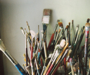 art and paint brushes image