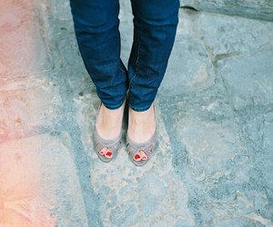 feet, red, and shoes image