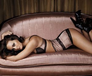 gq, sofa, and leighton meester image