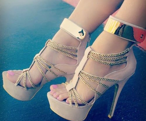 fashion, shoes, and gold image