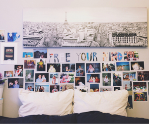 bed, photography, and room image