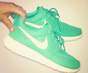 nike, green, and shoes image