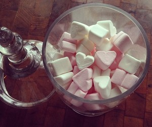 hearts, marshmallows, and valentine image