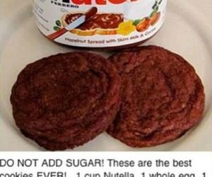 Cookies, food, and nutella image