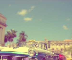 car, vintage, and taxi image