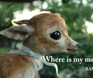 bambi, sad, and reindeer image