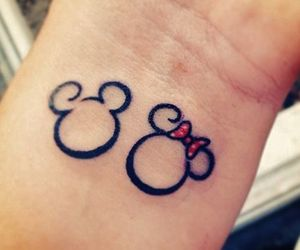 Mickey mouse and minnie mouse couple tattoos
