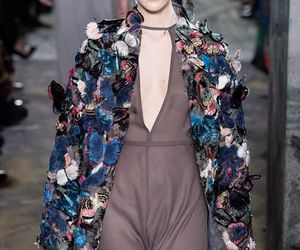 butterflies, catwalk, and Valentino image