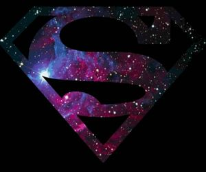 superman, galaxy, and stars image