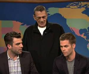 chris pine, leonard nimoy, and zachary quinto image