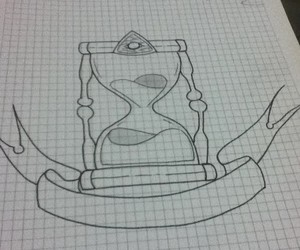 draw, tattoo, and hourglass image
