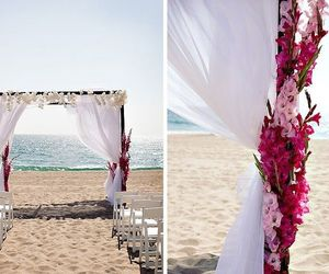 beach, ceremony, and outdoor image