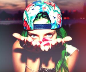 colorful hair, site models, and chloe norgaard image