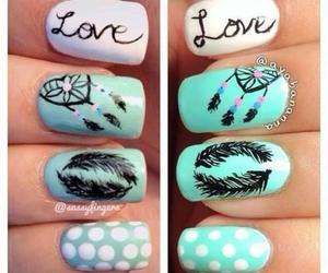 nails, love, and feather image