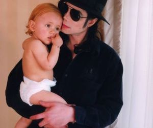 baby, daddy, and michael jackson image