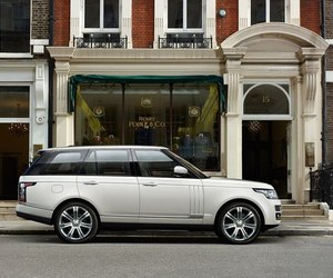 car, white, and rover range rover lwb image