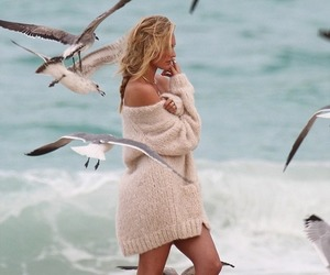 beach, summer, and candice swanepoel image