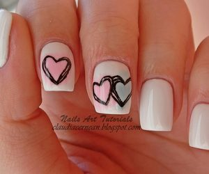 nails, fashion, and heart image