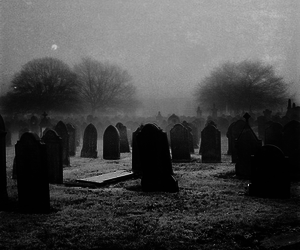 cemetery and creepy image