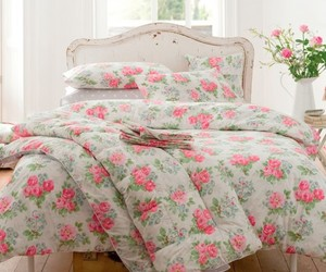 flowers, bed, and floral image