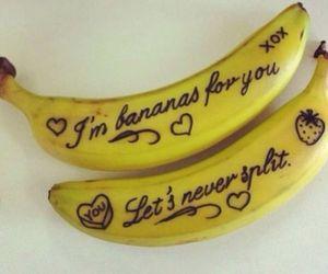 banana, love, and fruit image