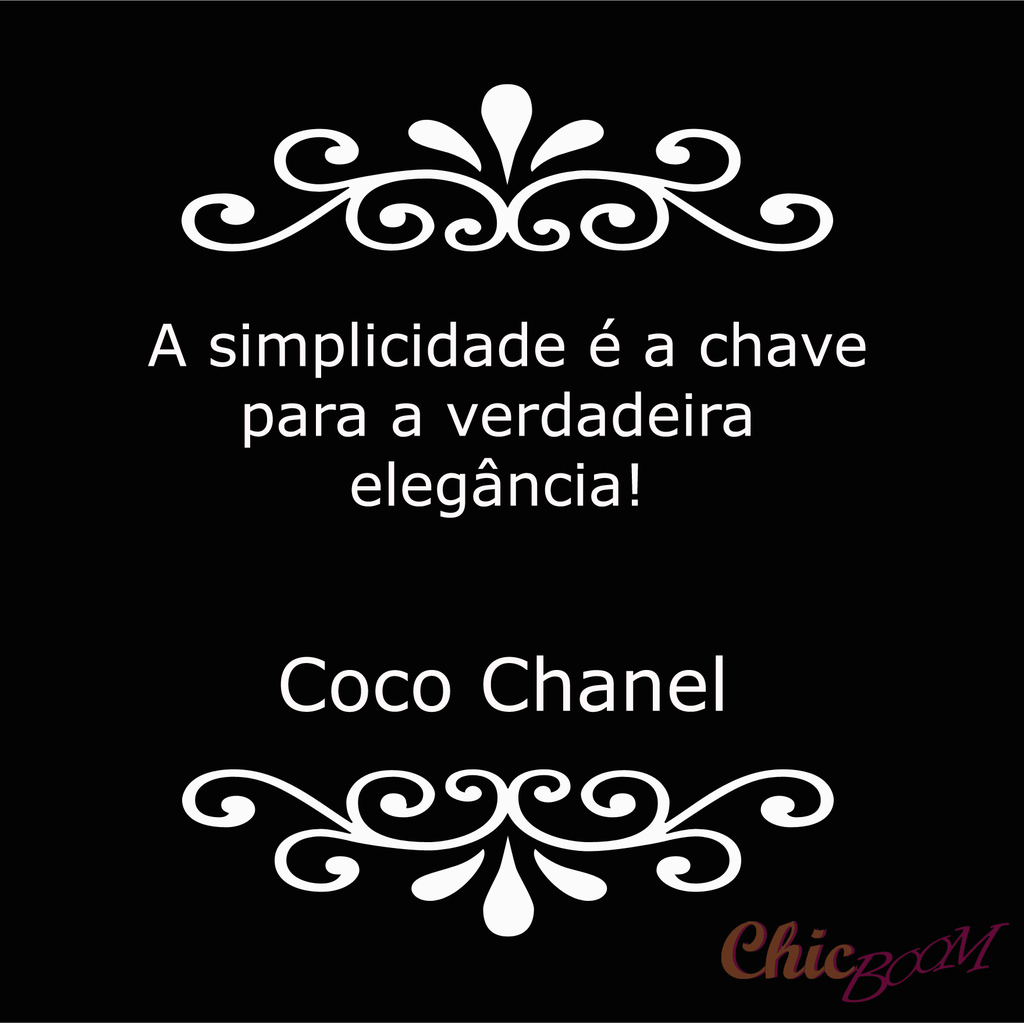 Image About Chanel In Frases De Moda By Loja Chic Boom