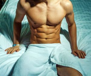 abs, hot guy, and men image