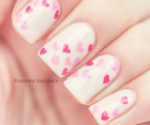 nail art, pink, and valentine image