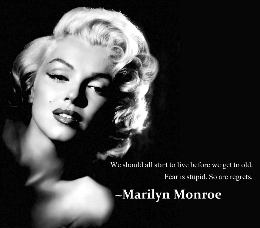 Marilyn Monroe Live With No Regrets On We Heart It