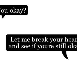 heart, okay, and quotes image