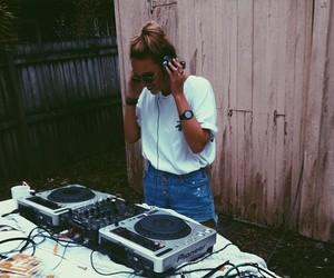 girl, dj, and music image