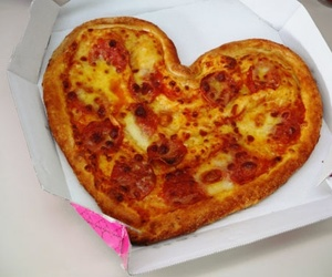 valentine, food, and pizza image