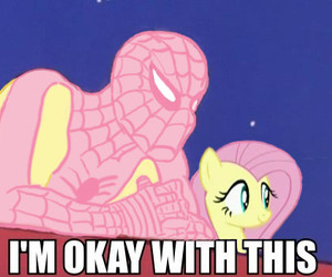 my little pony, spider man, and spider-man image