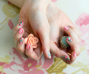 nails, hands, and pink image