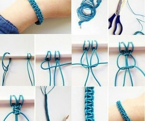 diy, bracelet, and blue image