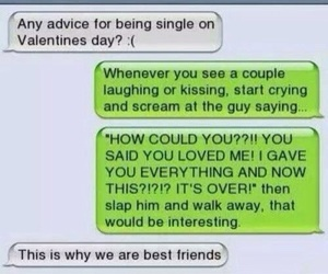 funny, valentines day, and best friends image