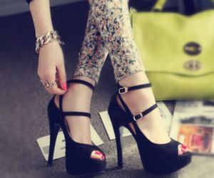 black shoes, style, and neautiful black shoes image