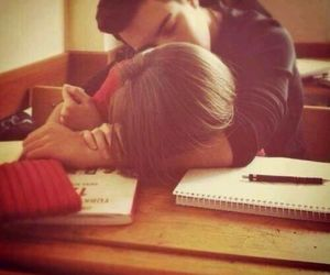 kiss, school, and love image