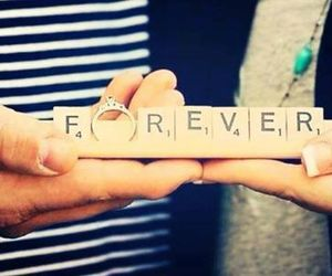 love, forever, and ring image