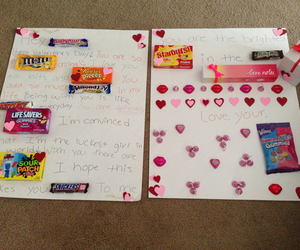 boyfriend, candy, and card image