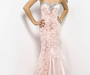 dress, evening gown, and Prom image