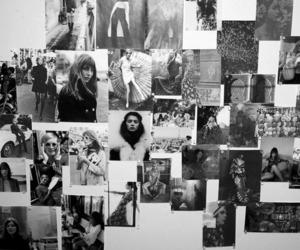 blackandwhite, model, and wall image