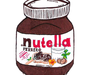 nutella, food, and overlay image