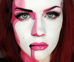 comic, makeup, and bodypainting image