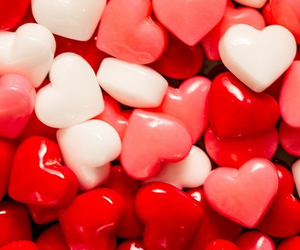 red, heart, and background image