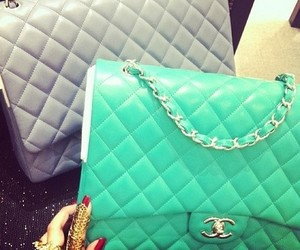 bags, chain, and chanel image
