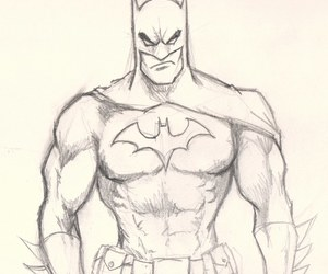 batman, drawing, and draw image